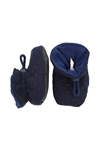 Image of Melton Unisex Quilted Baby & Toddler Booties
