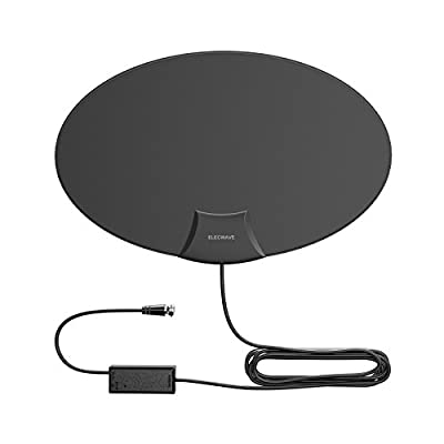 Elecwave EA03 HDTV Antenna, HDTV Antenna 70 Miles Range Indoor Amplified Antenna with High Performance,10 ft Coaxial Cable, Black from Elecwave