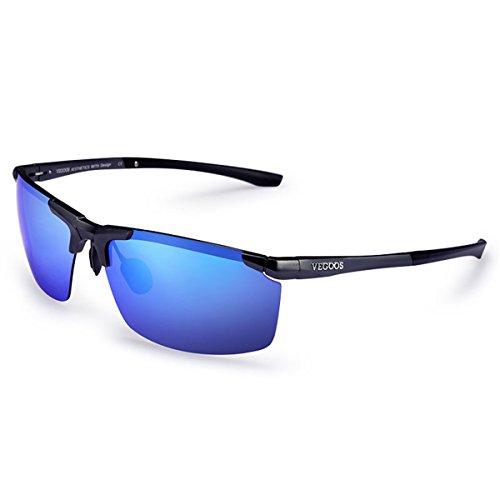 Gafas de Marine Sol Sol Conductores polarizadas Gafas Gafas de Macho Espejo KOMNY retrovisor Blue Film 8068 Hombres Dazzling Hwt6xqv