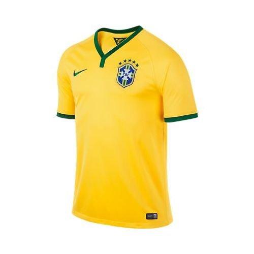 Nike Mens Brazil Home Soccer Jersey 2014 (Yellow) (XL) (Jersey Brazilian)