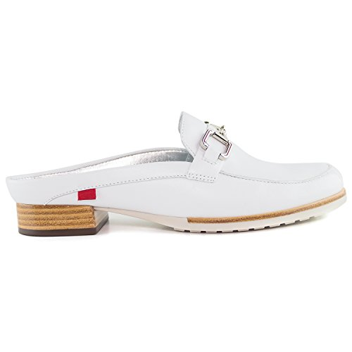Park Brazil Ave Marc in NY Genuine Mule Casual Leather Joseph Made Womens Shoes White Napa Fashion wYa0p