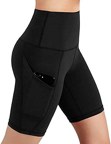 RTYou Yoga Shorts for Women High Waist Workout Shorts Tummy Control Running Shorts with Side Pockets for Athletic