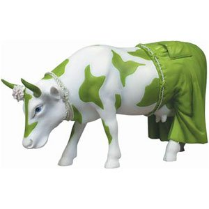 Cow Parade Clean Jean the Green Holstein Figurine