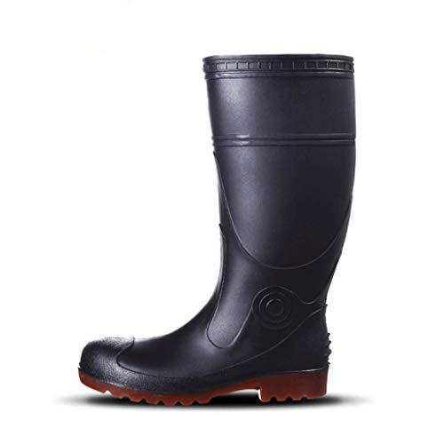 Men's Outdoor Sorghum Sole Rain Boots Steel Structure Wear-Resistant Corrosion-Resistant Rain Boots -