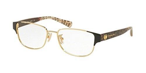 Coach Women\'s HC5079 Eyeglasses Black Gold/Wild Beast 53mm at Amazon ...
