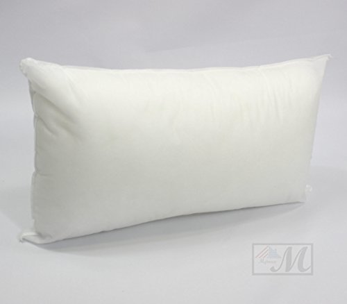 Pillow Insert Rectangular Sham Square Form Polyester Premium Hypoallergenic Stuffer, Standard / White - MADE IN USA (12
