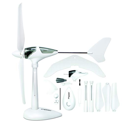 Airplane Motorized (Discovery Mindblown Wind Turbine Glider Kit, STEM Science Experiment for Kids, Fun Home Engineering Project for Boys and Girls, Green Energy Powers Soaring Motorized Glider, Battery-Free + LED Lights)