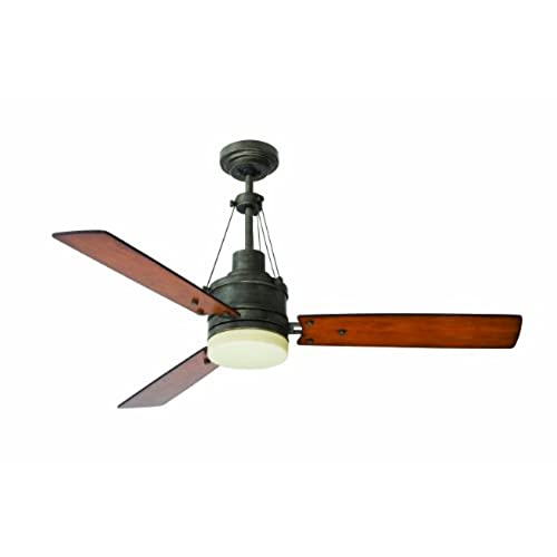 Vintage style ceiling fan light amazon emerson ceiling fans cf205vs highpointe modern ceiling fan with light and remote 54 inch blades vintage steel finish51 to 55 inches mozeypictures Images