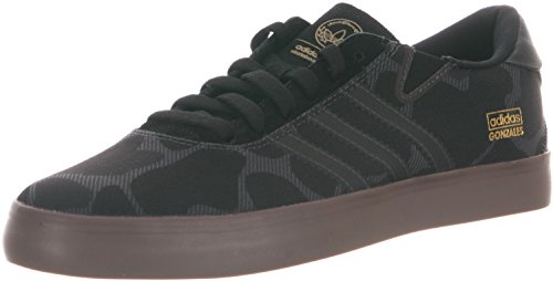 adidas Skateboarding Gonz Pro Skate Shoe Black/Solid Grey/Gum Mens 10
