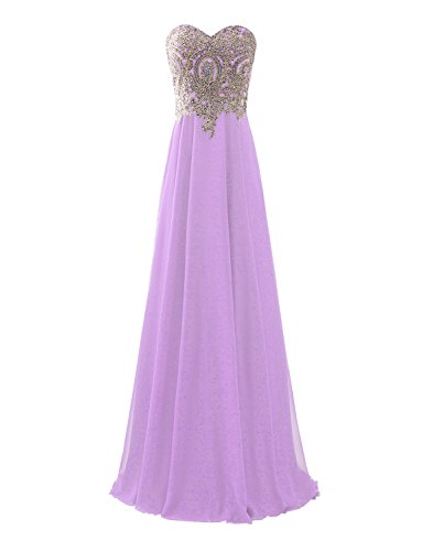 lilac and gold dress - 2
