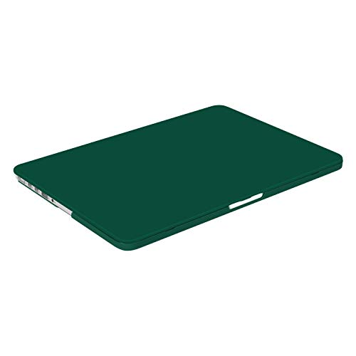 MOSISO Case Only Compatible with Older Version MacBook Pro Retina 13 inch (Models: A1502 & A1425) (Release 2015 - end 2012), Plastic Hard Shell Case & Keyboard Cover & Screen Protector, Peacock Green