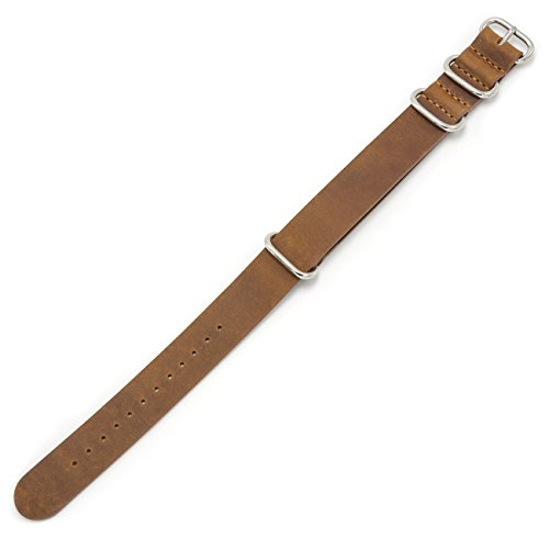 Genuine-Leather-Watch-Band-18mm-20mm-22mm-Top-Grain-Leather-Watch-Strap-Zulu-Military-Leather-Nato-Strap