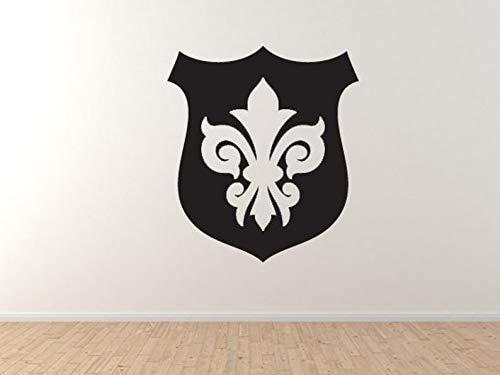 BYRON HOYLE Fleur de lis #3 - Family Shield Lily Flower Heraldic Crest Wall Vinyl Decal Home Decor
