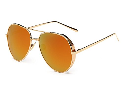 Konalla Aviator Flash Lenses Full Metal Frame Sunglasses for Womens - Global Eyeglasses Coupon