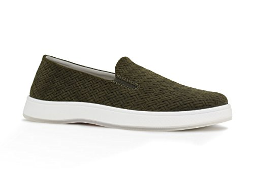 Aureus Womens Candice Pressed Nubuck Low Top Slip-On Fashion Sneaker Loden Green N9SgbV75Zk