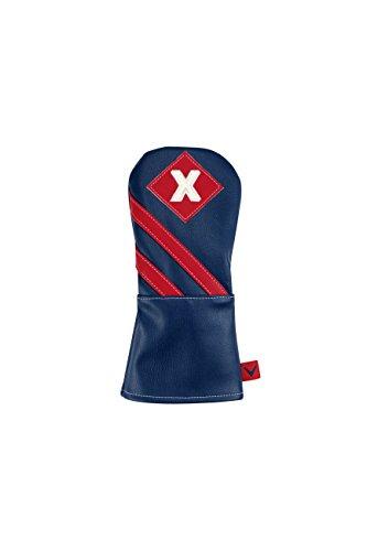 (Callaway 2016 CG Vintage Fairway Headcover Mens Blue/Red X Tag)