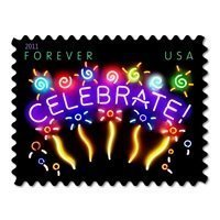Sheet of 20/Neon Celebrate Forever Stamp