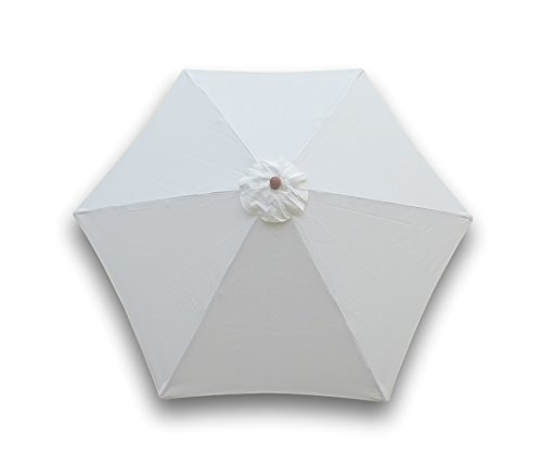 Formosa Covers 9ft Umbrella Replacement Canopy for 6 Ribs in Off White (Canopy only) (Furniture Donate Patio)