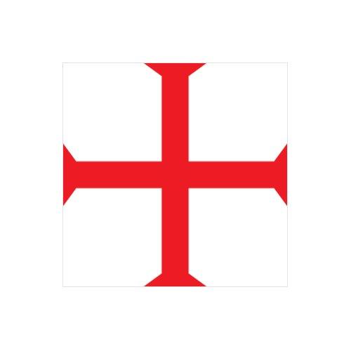 Knights Templar Symbol - Color Sticker - Decal - Die Cut
