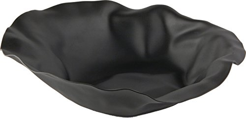 Alessi''Sarria'' Round Basket In Steel Colored with Epoxy Resin, Super Black by Alessi