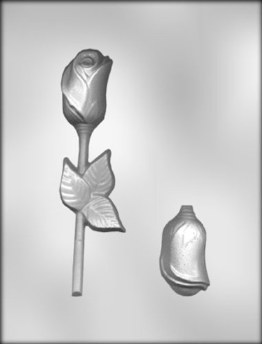 CK Products 6-1/2-Inch 3-D Rose with Leaf Sucker Chocolate Mold