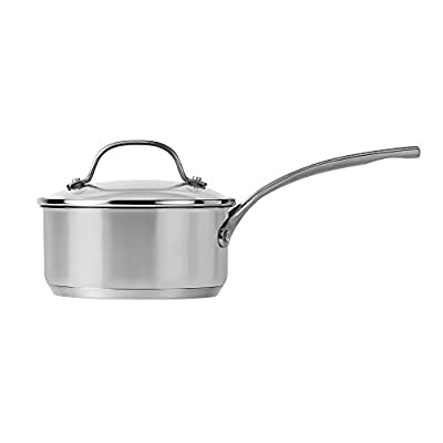 Royal Doulton 40009796 Gordon Ramsay Saucepan with Lid, 1.5 quart, Silver