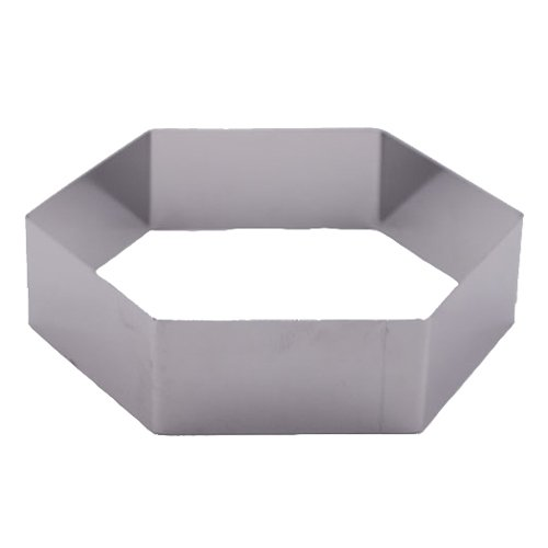 Fat Daddio's Stainless Steel Hexagon Cake and Pastry Ring, 9 Inch by 2 Inch