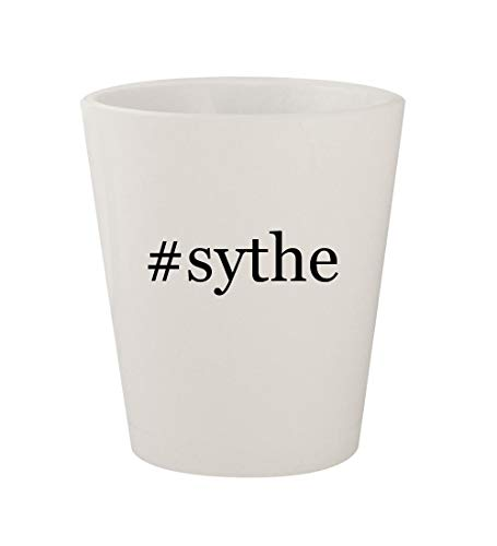 #sythe - Ceramic White Hashtag 1.5oz Shot Glass