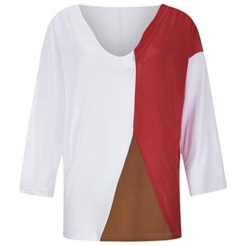 YEZIJIN Women Casual Loose Round Neck Short Sleeve Summer Shirts Blouses 2019 Under 10 Dollars White]()