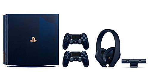 Playstation 4 PRO 500 Million Limited Edition Complete Collection: Translucent Blue 2TB Playstation 4 Pro Bundle (Limited to 50,000 Units Worldwide) with Extra Wireless Controller and Headset