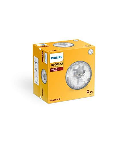 PHILIPS H6006C1 Standard Halogen Sealed Beam headlamp, 1 Pack