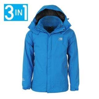 Karrimor 3in1 Waterproof Jacket Mens Electric Blue Medium: Amazon ...