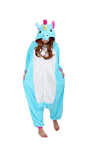 Kaguster Unisex-adult Kigurumi Onesie Unicorn Pajamas Costume (XL, (My Little Pony Halloween Costumes Adults)