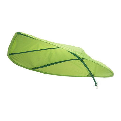 Ikea Green Leaf Lova Kid Bed Canopy - Latest 2017 IKEA Model Improved for Home and Office Use - Perfect for Diffusing Harsh Florescent Office Lighting - SHORT STEM -