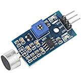 Elepartpro Sound Sensor Module Sound Sensor High Sensitivity Sound Microphone Sensor Detection Module For Arduino AVR PIC, Sound Detection Module Voice Switch Output High And Low Level DIY