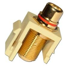 Skywalker Signature Series Keystone F Female to RCA Female Almond Insert with Red - Female Insert Rca Almond