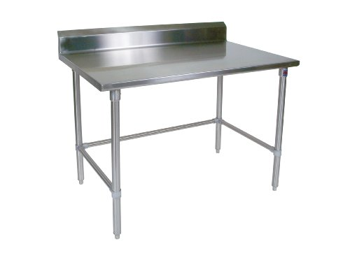 John Boos ST6R5-2448SBK 16 gauge Stainless Steel Work Table with 5