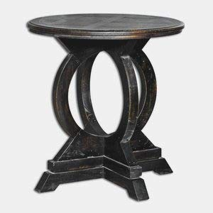 Uttermost 25630 Maiva Accent Table, Black - Transitional Table Hudson Lamp