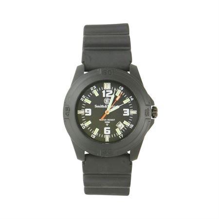 Smith & Wesson Field Watch - Smith & Wesson Men's SWW-12T-R Soldier Tritium H3 Black Rubber Strap Watch