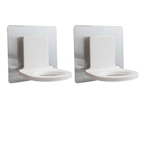 (Mike Home Plastic Self-Adhesive Wall Mounted Bathroom Bottle Holder Shower Gel Shampoo Hook 2 Pcs)