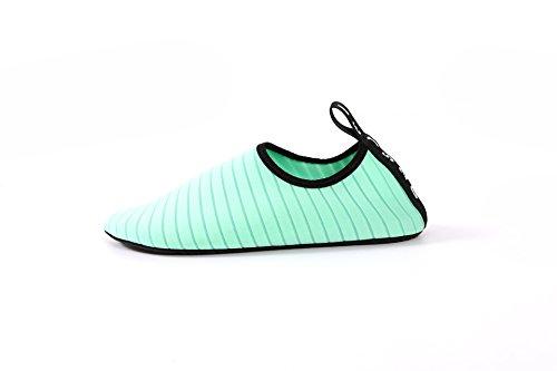 Inferior Piel Snorkeling Zapatos Parche Natación Green Descalzo Playa Buceo Suave Oqn6fCw