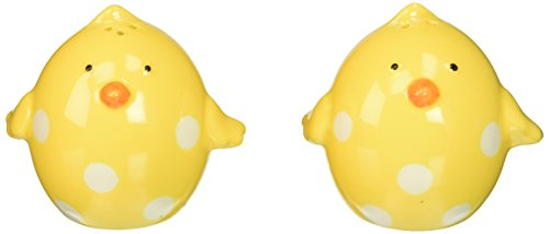Abbott Collection Ceramic Yellow Chick Salt and Pepper Shakers (2 pieces)