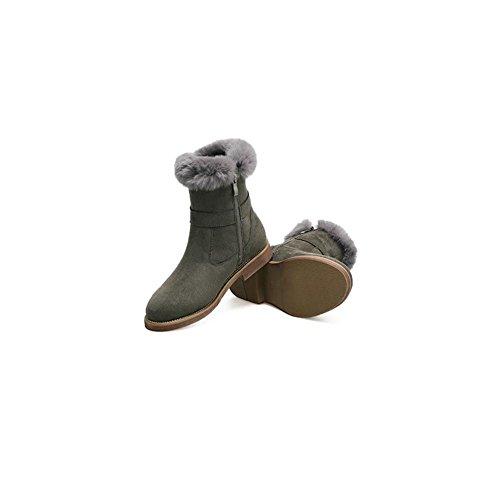 44 Suola gomma donna Camminare e traspirante in stabile e Stivali invernali all'usura resistente casual da comodo RwIqWpWxZf