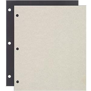 Raika 161-D 3-ring Scrapbook Refill pages - 8.5 x 11 in. from Raika