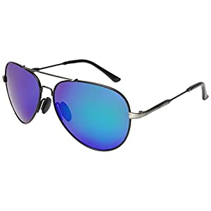 Aoron Premium Aviator Polarized Sunglasses for Men and Women with Mirrored or Plain Lens A217
