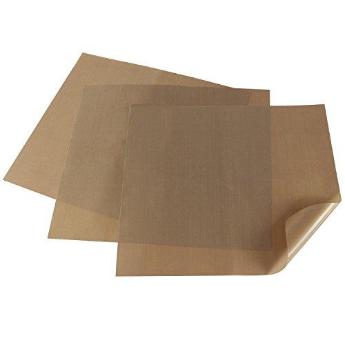 Amazy Dauerbackfolie 3 Stück - Das Premium Backpapier wiederverwendbar, antihaftbeschichtet und spülmaschinenfest, 36 x 42cm (3er Pack)