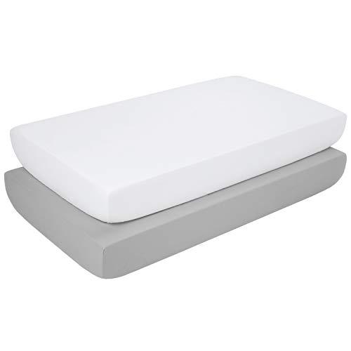 TILLYOU Silky Soft Microfiber Crib Sheet Set