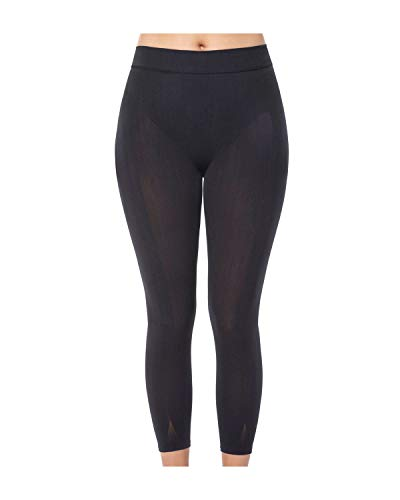 Leonisa Invisible High Waisted Super Comfy Compression Tummy Control Slimming Capri Shaper Leggings Black