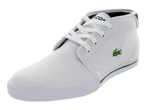 Lacoste Mens Ampthill Oxr Vit / Mörkgröna Mode Sneakers Vit / Mörkgrön