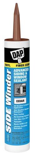 DAP 823 Winder Advanced Polymer Siding and Window Sealant, 10.1 Oz, Cartridge, Cedar, Paste